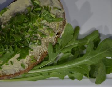 Butterbrot mit Rucola