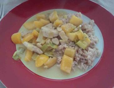 Mango-Paprika-Curry mit Truthahn