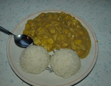 Curry-Mango-Huhn