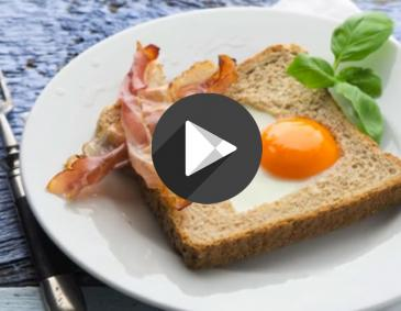 Video - Herz-Toast mit Speck