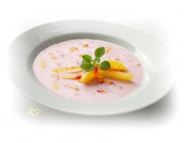 Himbeer-Pfirsich-Suppe