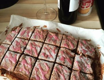 Rotwein-Brownies