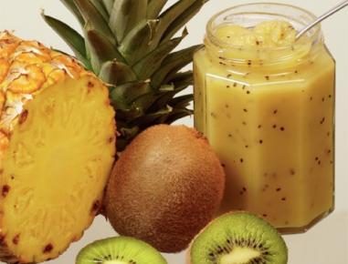 ananas kiwi marmelade rezept. Black Bedroom Furniture Sets. Home Design Ideas