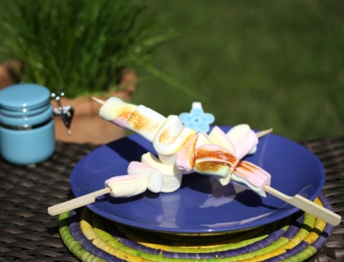 Penice marshmallows na žaru