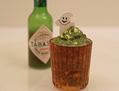 Pekoča zelena sluzasta omaka