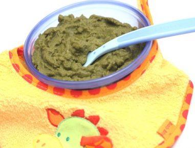 Hrana za dojenčke: kaša iz brokolija in krompirja