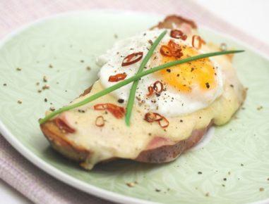 Toast z jajcem na oko