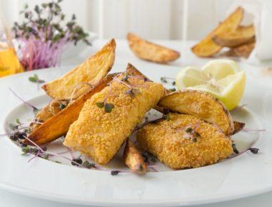 fish and chips aus der hei luftfritteuse rezept. Black Bedroom Furniture Sets. Home Design Ideas