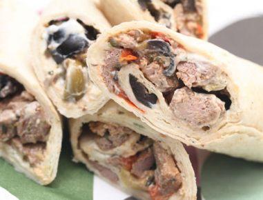 Grške tortilje z jagnjetino
