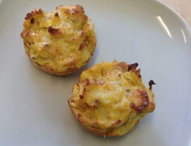 Krompirjevi mafini z mandeljni