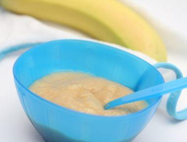 Hrana za dojenčke: kaša iz banane in ovsa