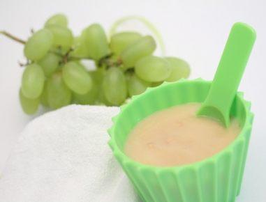 Hrana za dojenčke: Prosena kašica z jabolki in grozdjem
