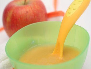 Hrana za dojenčke: Bučna kašica z jabolkom