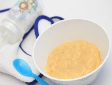 Hrana za dojenčke: mlečni riž z breskvijo