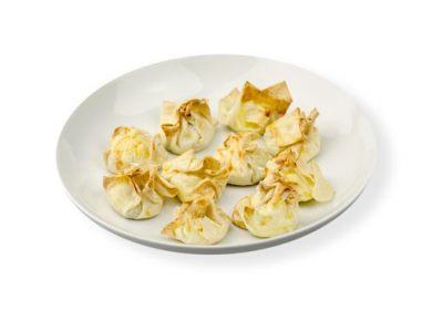 Mošnjički s krompirjem, sirom in grahom