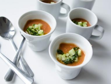 Hladna paradižnikova juha s čičeriko