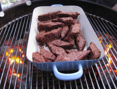 Zimska peka na žaru - zimski brownieji
