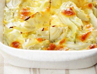 Gratiniran koromač s krompirjem