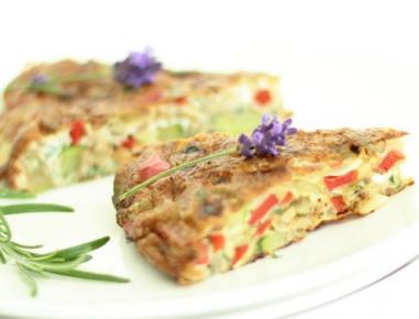 Mediteranska zelenjavna tortilja