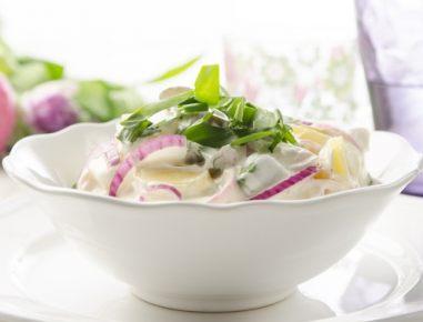 Krompirjeva solata s čemažem