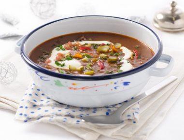 Polnočna juha s kislim zeljem