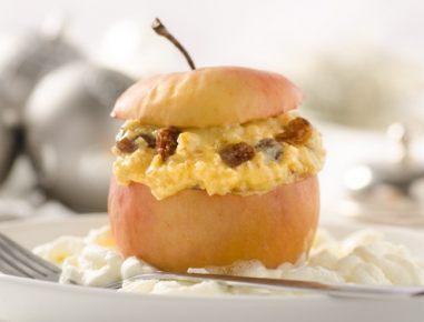 Hrustljavo jabolko z rozinami