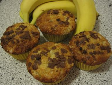 bananen joghurt muffins rezept. Black Bedroom Furniture Sets. Home Design Ideas