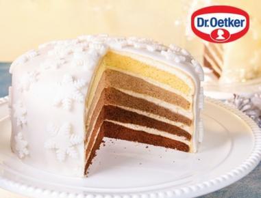 Weihnachtliche Ombré-Torte - Rezept - ichkoche.at
