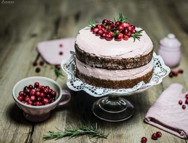 naked cake mit cranberrys rezept. Black Bedroom Furniture Sets. Home Design Ideas