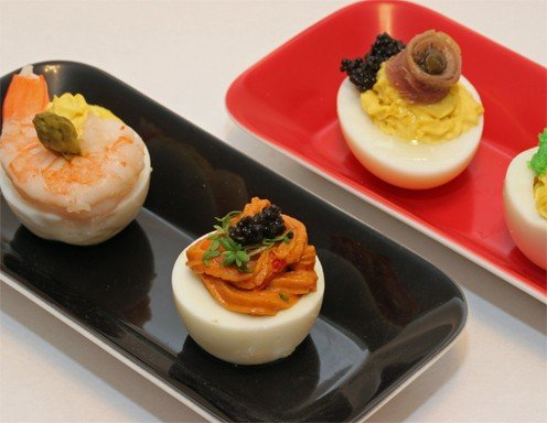 Gef llte eier rezept - Eier weich kochen minuten ...