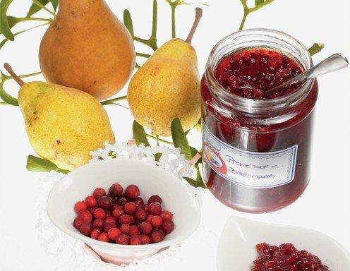 Preiselbeer birnen marmelade rezept - Marmelade einkochen glaser ...