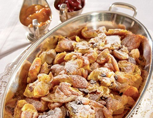 Kaiserschmarren à la Sacher (Shredded Pancakes with plum sauce)