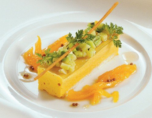 muskat k rbisschnitte mit zucchini tatar rezept. Black Bedroom Furniture Sets. Home Design Ideas