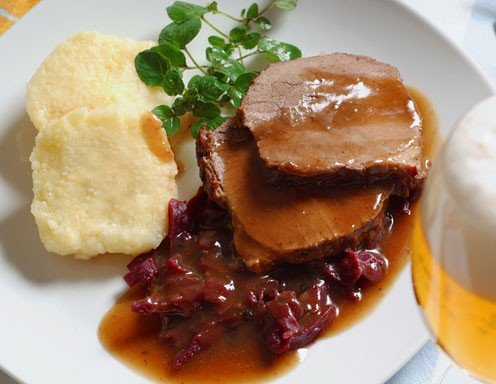 Rindsbraten in Biersauce