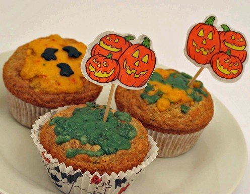 schimmelige halloween muffins rezept. Black Bedroom Furniture Sets. Home Design Ideas