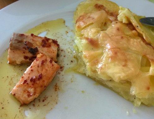 Kartoffelgratin Mit Lachs