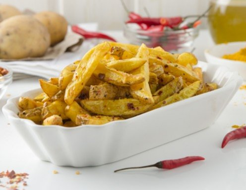Dicke Pommes Frites - pikant