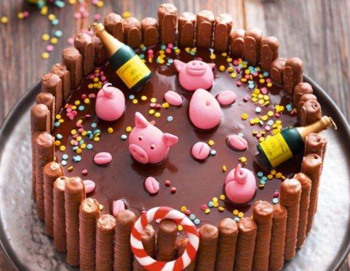 Oink oink pool party rezept for Tortenideen