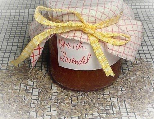 pfirsich lavendel marmelade rezept. Black Bedroom Furniture Sets. Home Design Ideas