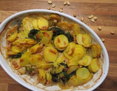Kartoffel Brokkoli Auflauf Mit Erdnusssoße Rezept Ichkocheat