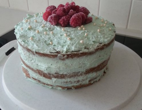 Naked Cake Schoko Himbeer Mascarpone Rezept Ichkocheat