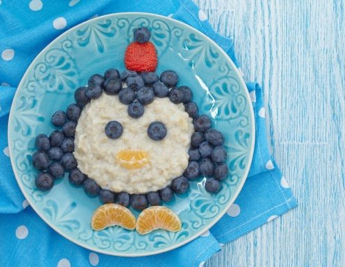 Pinguin-Porridge Rezept