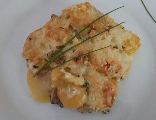 Kartoffel Champignonauflauf Rezept Ichkocheat