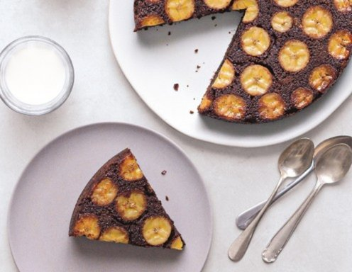 Upside Down Kuchen Banane Schoko Rezept Ichkoche At