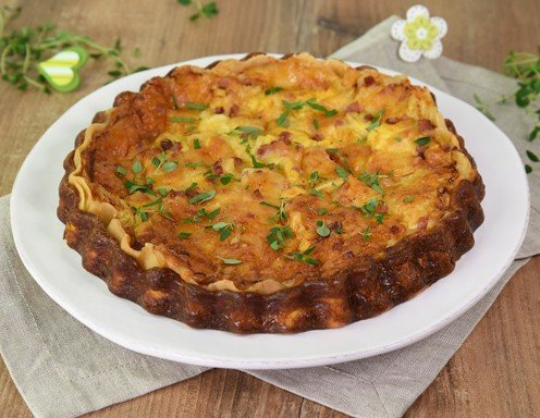 Quiche Lorraine Lothringer Schinken Käse Kuchen Rezept Ichkocheat