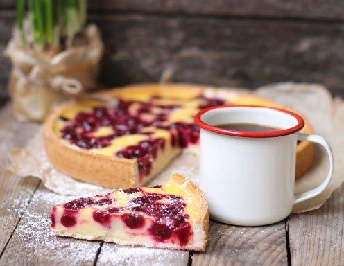 Vanillepuddingkuchen Mit Kirschen Rezept Ichkoche At