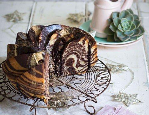 Schokoladen Vanille Zebrakuchen Rezept Ichkoche At