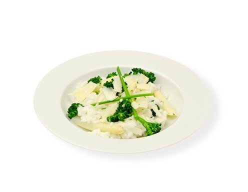 Spargel-Broccoli-Risotto Rezept
