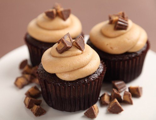 Toffee Cupcake Mit Karamell Topping Rezept Ichkoche At