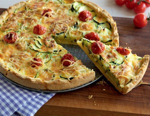zucchini tomaten quiche rezept. Black Bedroom Furniture Sets. Home Design Ideas